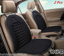 2 Pcs Car Seat Cushion Therapy Massage Padded Bubble Foam Chair Seat Pad Black