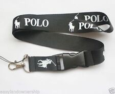 Ralph Lauren Polo Black White Lanyard Detachable Keychain BEST RATED