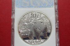 2010  CHINESE  SILVER  PANDA, 1 Oz .999  BULLION  COIN, in Display Case