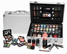 52 PCS Girls Make Up Kit Silver Carry Case Cosmetic Set Eyeshadow Nail Lip Gift