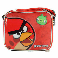 Lunch Bag Insulated with Shoulder Strap Angry Birds Red Bird & Green Pig NEW
