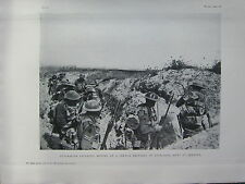 1918 WW1 WWI PRINT ~ AUSTRALIAN INFANTRY MOVING UP A TRENCH MONT ST QUENTIN