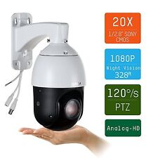 20x Zoom1080P AHD CCTV Security Camera Outdoor PTZ color Night Vision 328 ft IR
