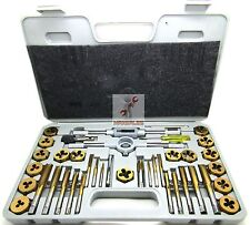 40 Pc Titanium Tap And Die Tool Set SAE Fine Standard