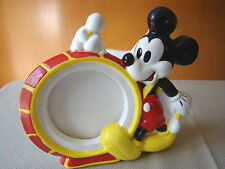Vintage Mickey Mouse Ceramic Picture Frame Music Box - Marching Mickey with Drum