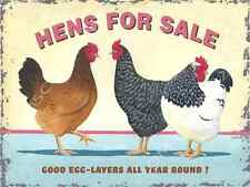 Hens For Sale Metal Sign, Good Egg Layers Year Round