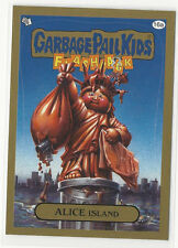 Alice Island 2014 Topps GARBAGE PAIL KIDS Flashback Series 3 Gold Card #16a
