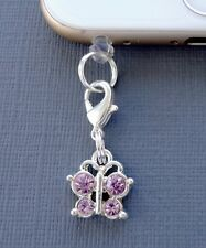 Butterfly cell phone Charm Anti Dust proof  Plug ear jack Fits iPhone C150