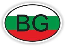 BG BULGARIE Autocollant OVAL avec drapeau pour Voiture Caravane Pare-choc laptop