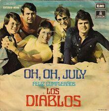 """Los Diablos - Oh, oh July / Feliz Cumpleanos 45 single 7"""" EMI-ODEON 1972"""