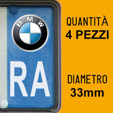 Kit 4 ADESIVI PER TARGA BMW plate auto moto Europa custom stickers decals