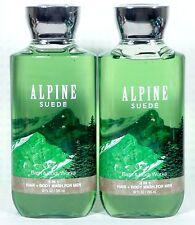 2 Bath & Body Works ALPINE SUEDE Shower Gel / Body Wash MEN'S