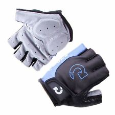 Mens Women Cycling Bicycle Gloves Motorcycle Sport  Half Finger Gloves Sz L Blue