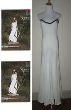 NWT WINTER KATE NICOLE RICHIE DAMIEN IVORY VINTAGE SILK BRIDAL MAXI DRESS SMALL