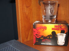 Fireball Whiskey Shot Glass Hot Cinnamon Liquor Etched Bar Letter F Mancave New