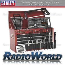 Sealey topchest 6 Cassetto Cuscinetto corridori Rosso/Grigio 98pc Tool Set AP 2201 bbcombo