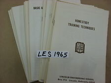 Vintage 1965 Lincoln Engineering School Electrical Mail Order course 16 booklets