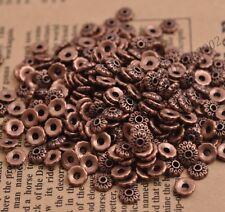 100PCS Tibetan Silver Flower Bead Caps Spacer beads Charm Findings 6MM DB3081