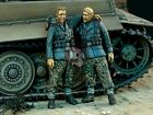 "Verlinden 1/35 ""Kameraden"" German Waffen-SS Soldiers WWII (2 Figures) 1077"