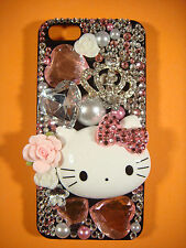 DIY Crown Hello Kitty Decoration for iPhone 4/5/6 Samsung Galaxy S3/S4/S5 etc.