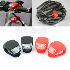 4 x New Bike Warning Front Light Bicycle Silicone Beetle Frog Rear Lamp Safety