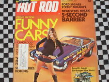 rare revue HOT ROD MAGAZINE 1973  / DRAGSTER / NASCAR