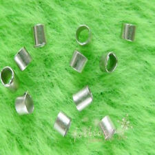 Lot 3000pcs Crimps  Tube  beads Finding 1.5mm 1