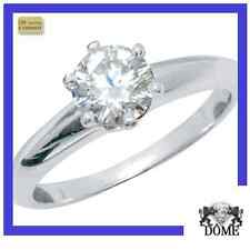 "♛""DREAM"" BAGUE SOLITAIRE DIAMANT OR BLANC 18K   0,52CT HSI3 2250E AUTHENTIQUE ♛"