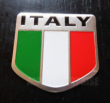 Chrome Style Italian Italy Tricolore Flag Badge fits Porsche Cayman Cayenne S