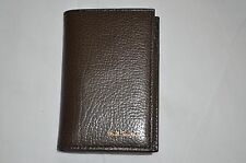 New in Box Paul Smith Brown Leather Card Case Wallet Italy  $250