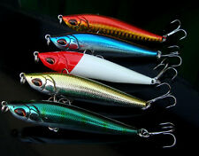 Quality 5pcs Lot Sinking Pencil Bait Tackle Fishing Lures 8cm/15g Treble Hooks