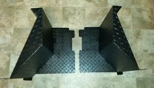 2009-2014 FULL SIZE POLARIS RANGER 700 AND 800 BLACK  DIAMOND PLATE MUD BLOCKERS