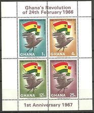Ghana - Jahrestag Februar-Revolution Block 24A postfrisch 1967 Mi.Nr. 283-286