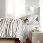 Off White Natural Fiber Pure Belgian Linen Duvet Cover Set Rustic French County