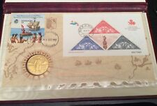 The Official Discovery of America 500th Anniversary Coin & Stamp Collector's Set