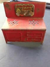 Vintage Doll House Chippy Red Little Orphan Annie Two Burner Stove