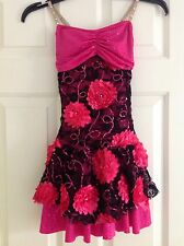 Girls Jazz Or Tap Sequin Lace Dance Costume with Gauntlets- Sz Small Adult (Sa)