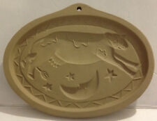 1993 BROWN BAG COOKIE ART COW JUMPING OVER THE MOON COOKIE MOLD PRESS STAMP