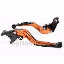 Extending Clutch Brake Levers For KTM Duke RC125/200/390 2014 2015 Orange CNC