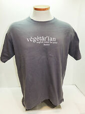 Vegetarian English Word For Poor Hunter T-Shirt Funny Life Humor Size L