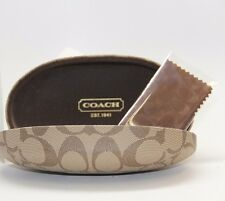 COACH SUNGLASSES EYEGLASSES CASE BROWN HARD CLAMSHELL SMALL CASE ONLY HC