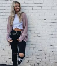 Rare Brandy Melville Light Weight Pink Blush caroline cardigan Knit sweater Nwt