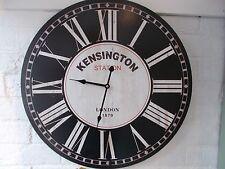 Large WALL CLOCK Vintage Style 58cm Station Clock KENSINGTON STATION'