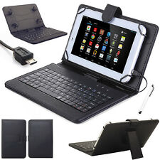 """For Amazon Kindle Fire 7"""" 5th Gen 2015 Stand Leather Case Cover With Keyboard"""