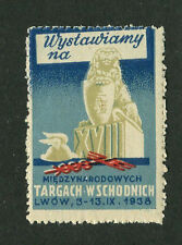 Poster Stamp Label 1938 POLAND  Medical Trade Fair Miedzynarodowych targach