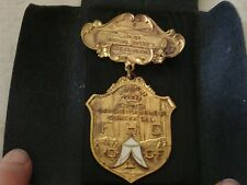 IOOF Odd Fellows Grand Encampment Medal Brooch 1925 & Case Eureka CA