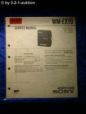Sony Service Manual WM EX19 Cassette Player (#2132)