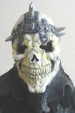 mens DELUXE HALLOWEEN MASK FUN WORLD SKELETOR? SPIKES FULL HEAD COVER TEETH YUCK