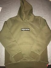 Supreme Box Logo Hoodie Size L Color Army Green