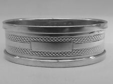 Good HM Silver Oval Napkin Ring (177a) - Birm 1934 Henry Griffiths- Not Engraved